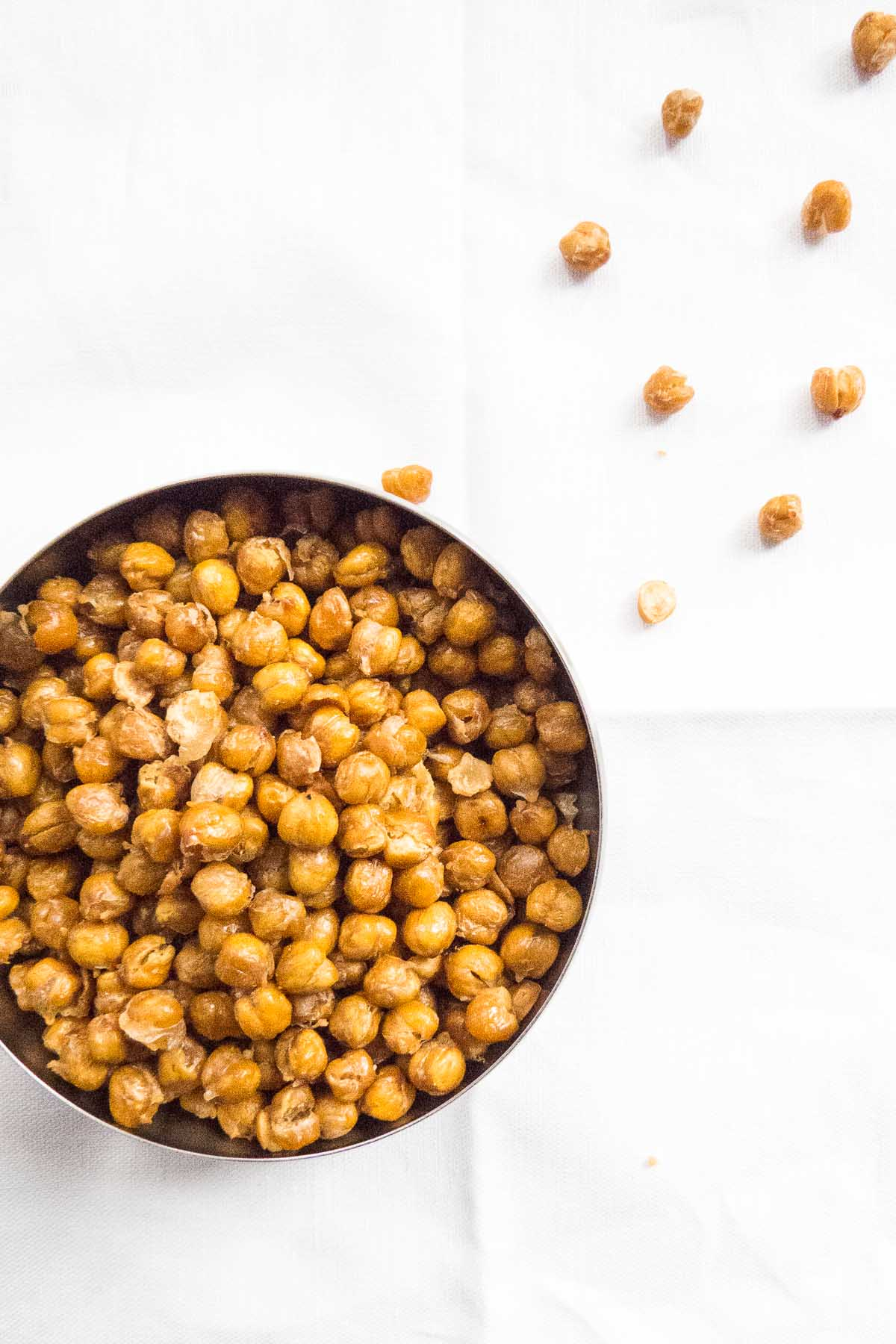 Snack recipes that help you sleep better: Crunchy Salted Roasted Chickpeas | The Beader Chef