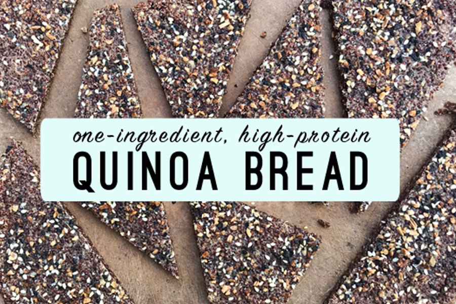 One-Ingredient, High-Protein Quinoa Bread. Yup, you read right. And it's genius.