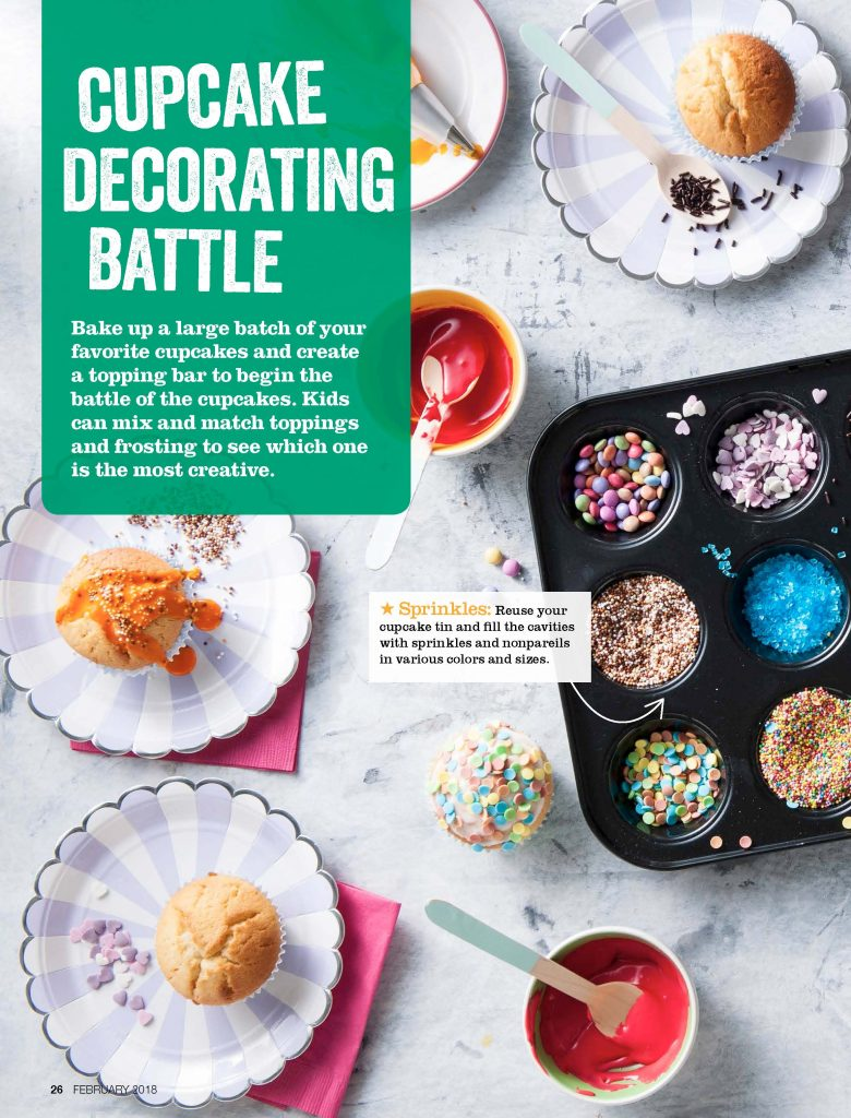 Savory Magazine's free snow day boredom busters guide: How to host your own version of Cupcake Wars | Cool Mom Eats (sponsored)