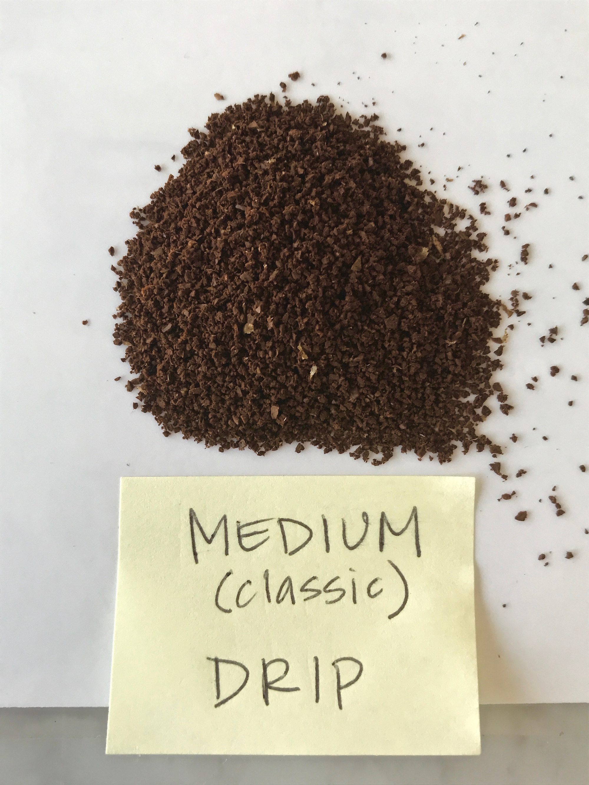 Visual guide to grinding coffee: Medium (classic) drip | © Jane Sweeney Cool Mom Eats