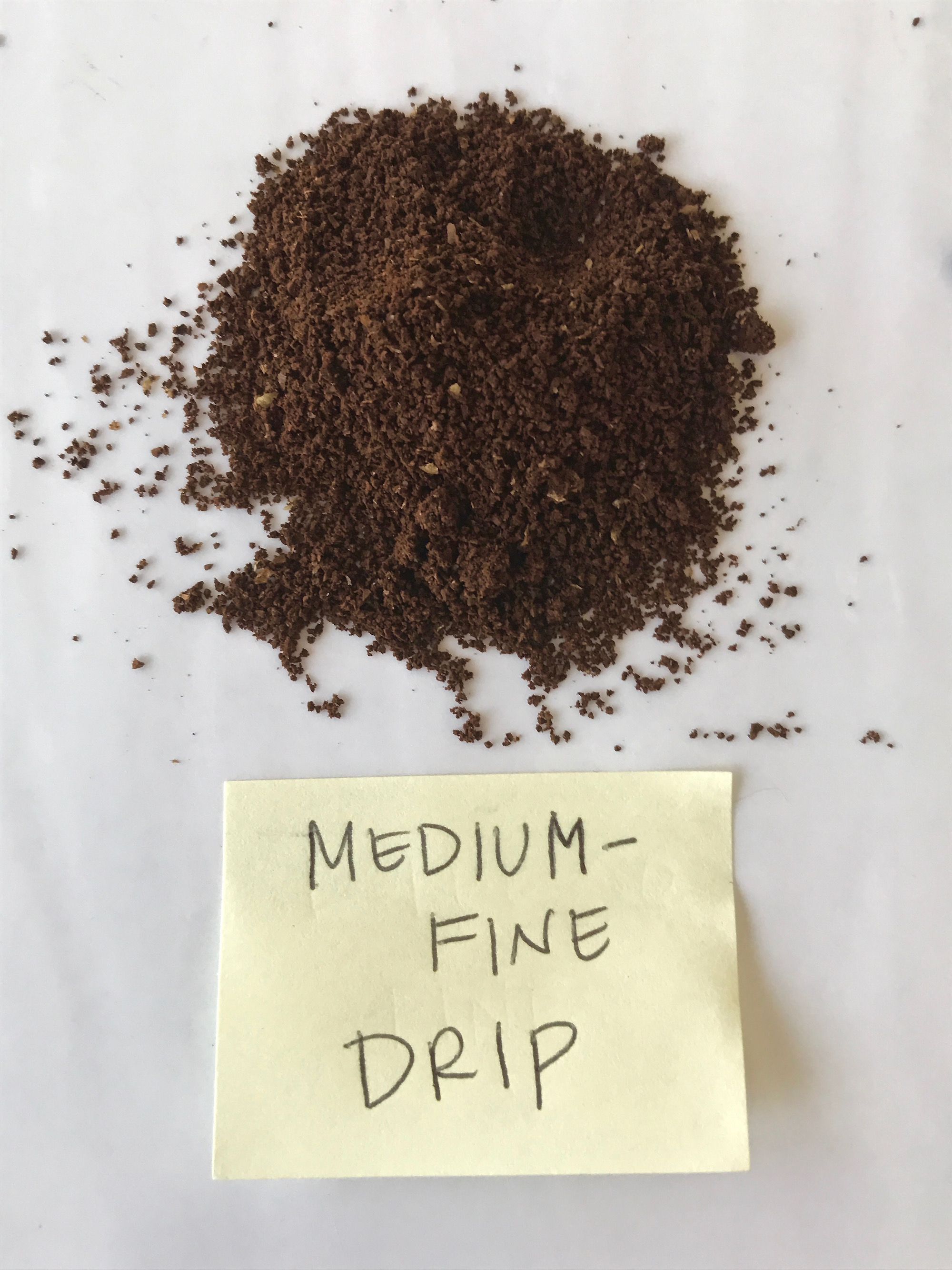 Visual guide to grinding coffee: Medium-Fine | © Jane Sweeney Cool Mom Eats