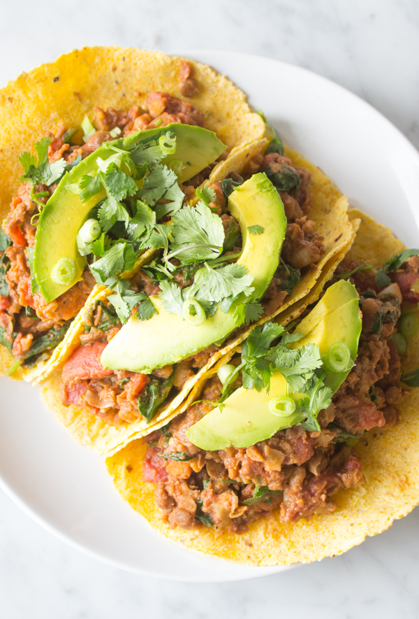 Cool Mom Eats weekly meal plan: Lentil Chili Tacos | Sweet Potato Soul