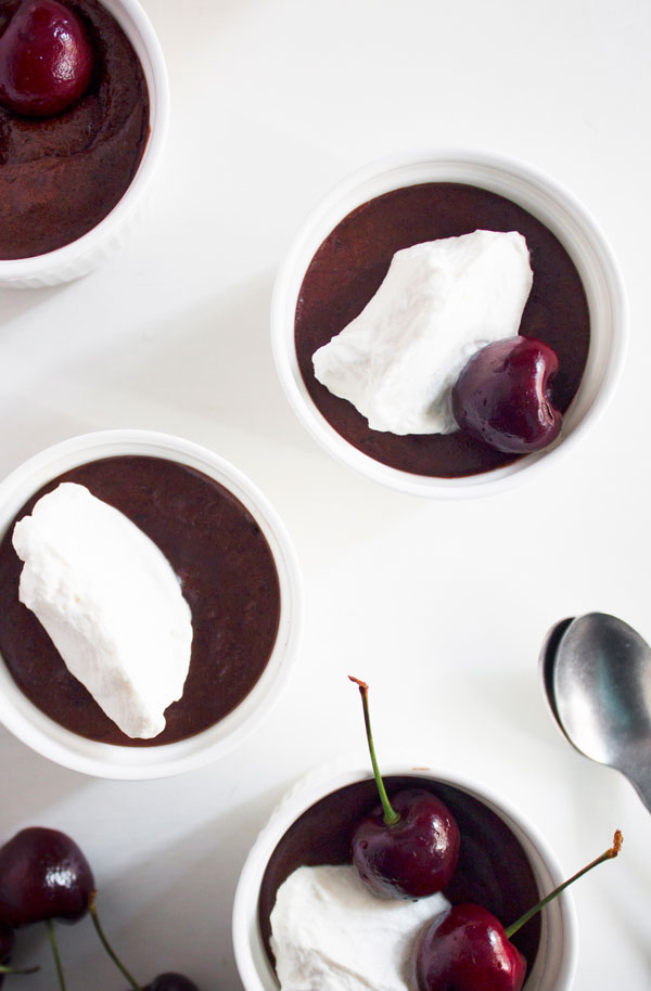 Clean chocolate desserts for Valentine's Day: Chocolate mousse at Sprig & Vine
