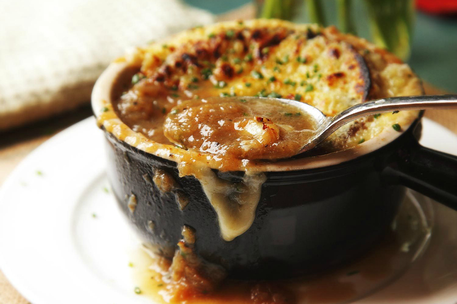We're crazy for this easy, accessible Instant Pot French onion soup at Serious Eats! | recipe at photo by J. Kenji Lopez-Alt
