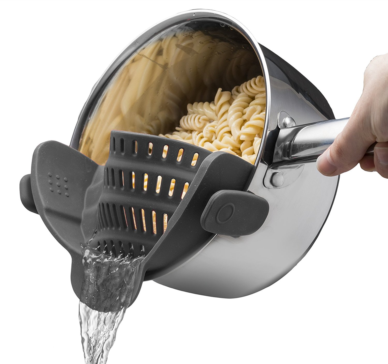 Fun kitchen gadgets at Amazon Prime for under $20 that we're totally here for: Clip on strainer | Cool Mom Eats