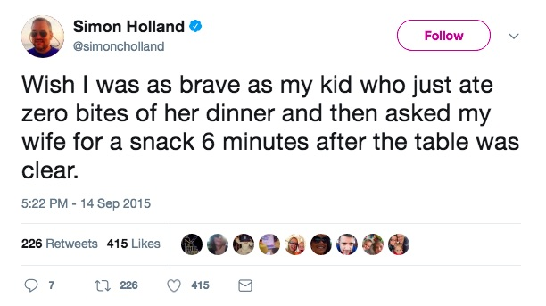 Funniest tweets about picky eaters from hilarious parents on Twitter: Simon Holland via Twitter