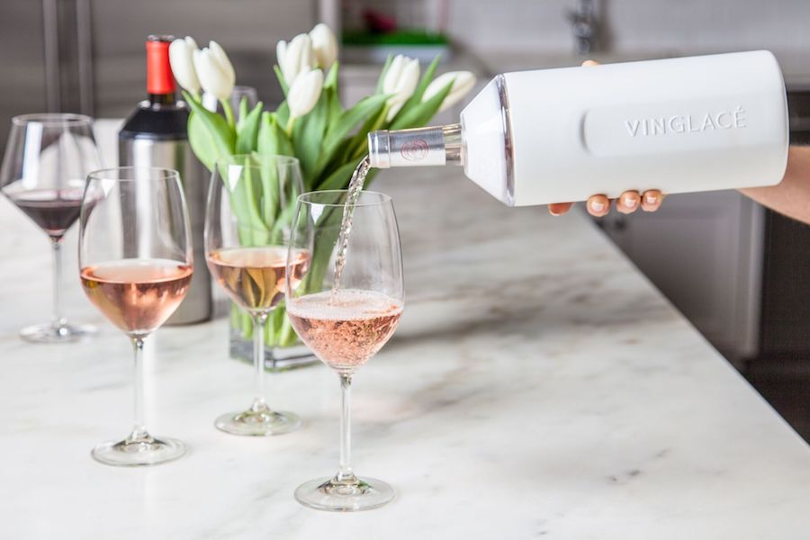 Vinglacé is a genius way to keep wine chilled, wherever you take it.