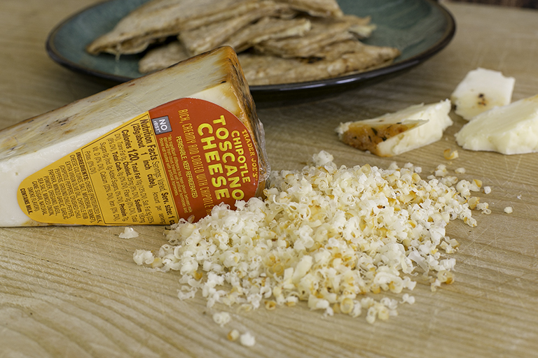 What family-friendly products to buy at Trader Joe's this month: Chipotle Toscano Cheese | Cool Mom Eats