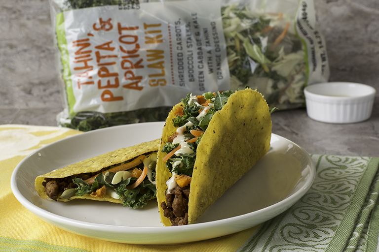 What family-friendly products to buy at Trader Joe's this month: Tahini, Pepita, Apricot Slaw Kit | Cool Mom Eats