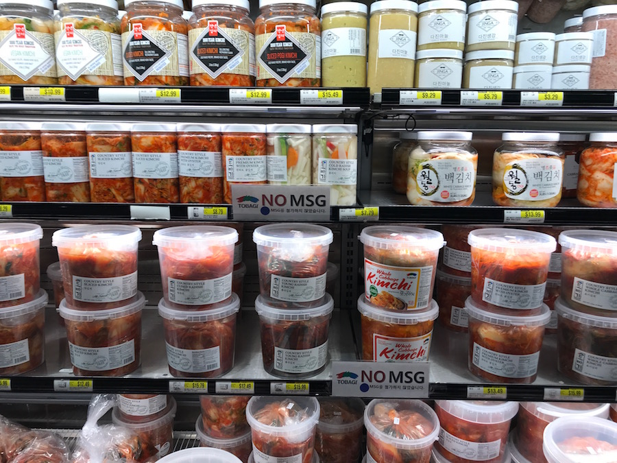 Asian grocery store finds: Fresh kimchi | © Jane Sweeney Cool Mom Eats