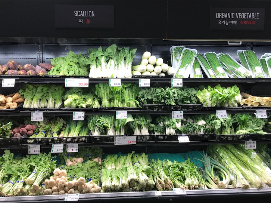 Asian grocery store finds: Greens | © Jane Sweeney Cool Mom Eats