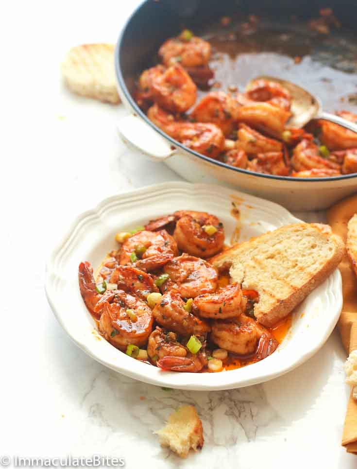 Cool Mom Eats weekly meal plan: New Orleans BBQ Shrimp | Immaculate Bites