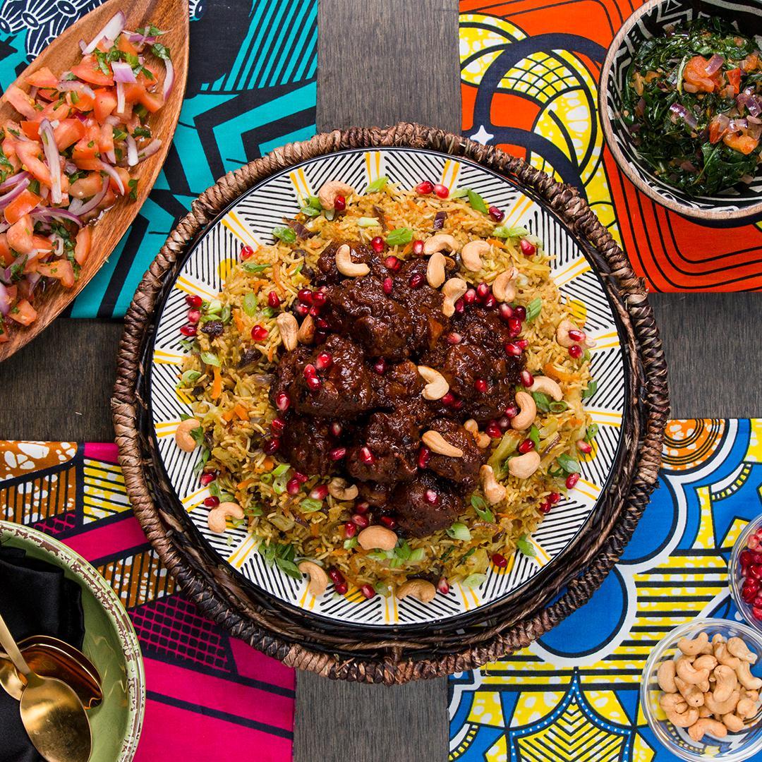 Cool Mom Eats weekly meal plan: Wakandan Jeweled Vegetable Pilau and Berbere Braised Lamb at Tasty