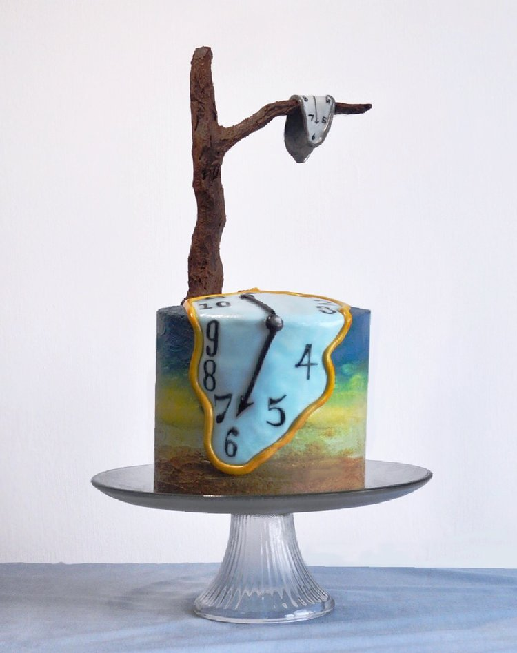Salvador Dali inspired cakes from Icing Insight. Amazing!