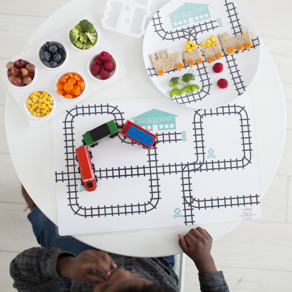 Dylbug Drivers placemats: So cute -- and a fun way to get picky eaters more excited about sitting at the table | Cool Mom Eats