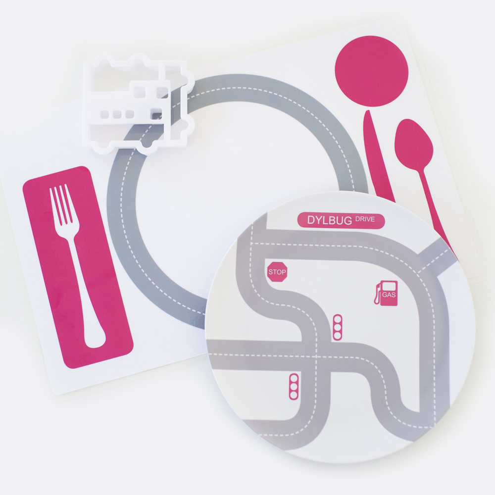 Dylbug Drivers placemats/playmats come in turquoise and pink: So cute -- and a fun way to get picky eaters more excited about sitting at the table | Cool Mom Eats