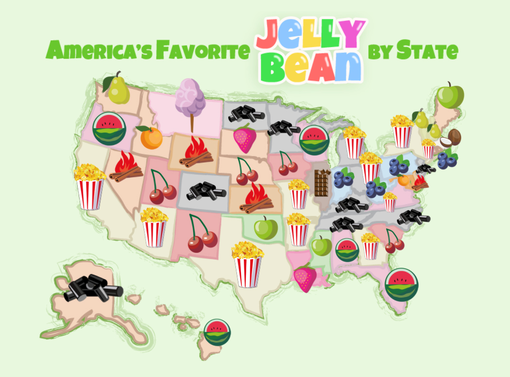 Favorite Jelly Bean By State | The Candy Store