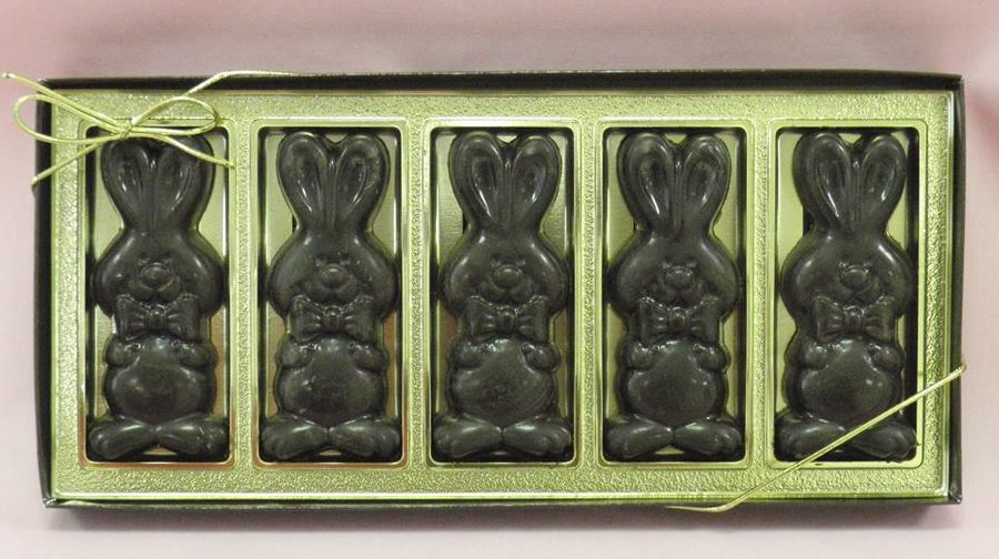 Allergy-Friendly Easter Chocolate | amanda's own gold bunny box