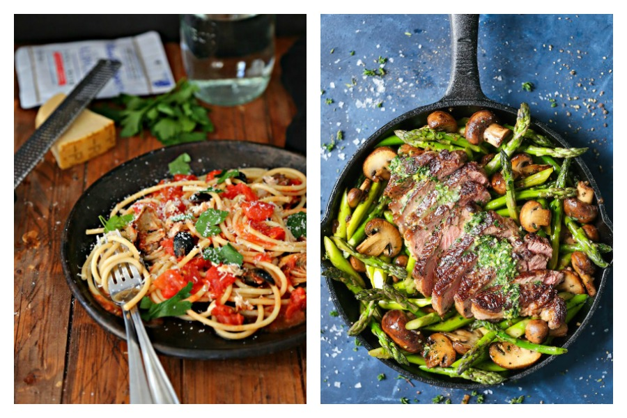 Next week's meal plan: 5 easy recipes for the week ahead, from a healthier pasta classic to a one-pan steak dinner.