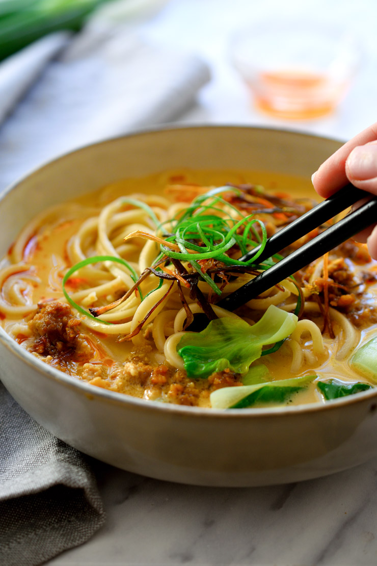 Cool Mom Eats weekly meal plan: Vegan Ramen with Creamy Sesame Broth   Cilantro and Citronella