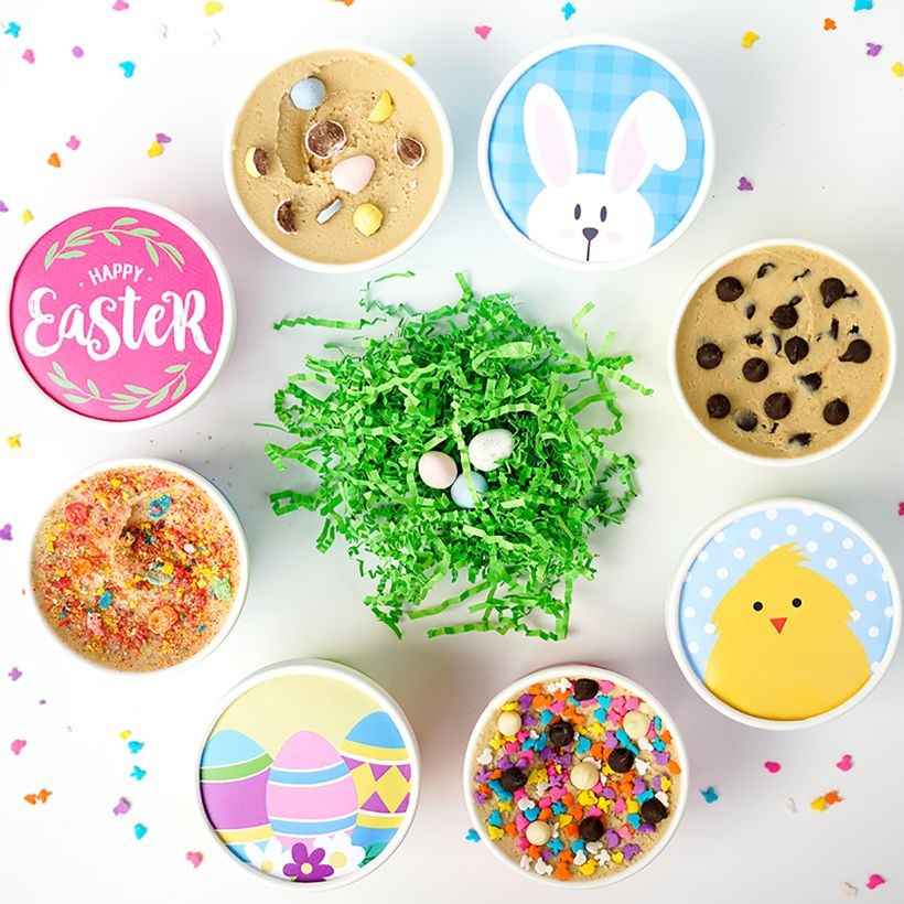 Easter cookie dough 4-pack from Cookie DO, ready for delivery as an Easter basket alternative | Cool Mom Eats