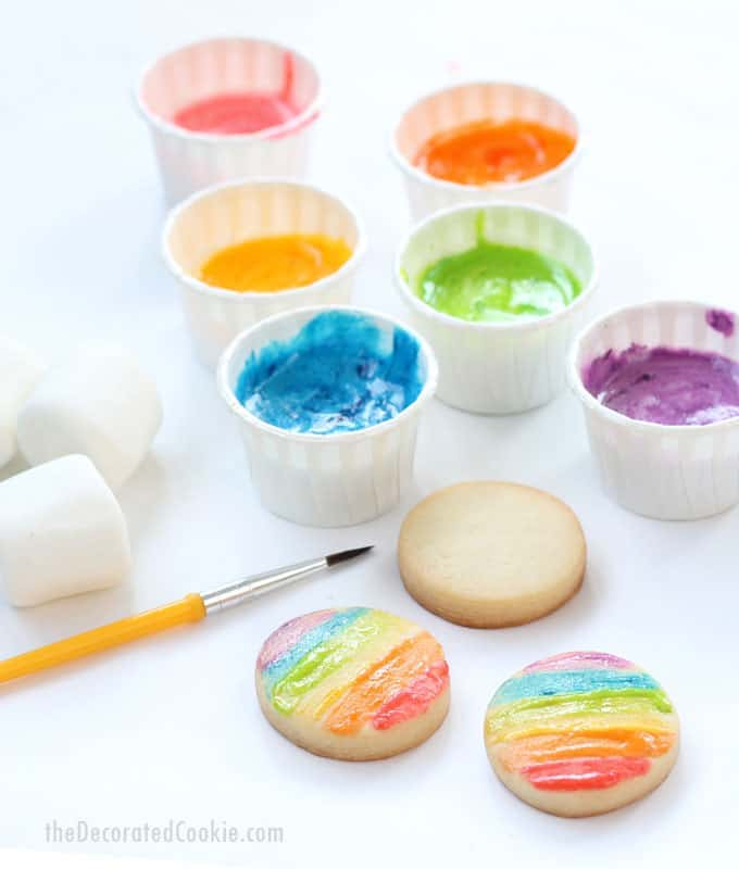 Edible St. Patrick's Day crafts for kids: Edible paint at The Decorated Cookie