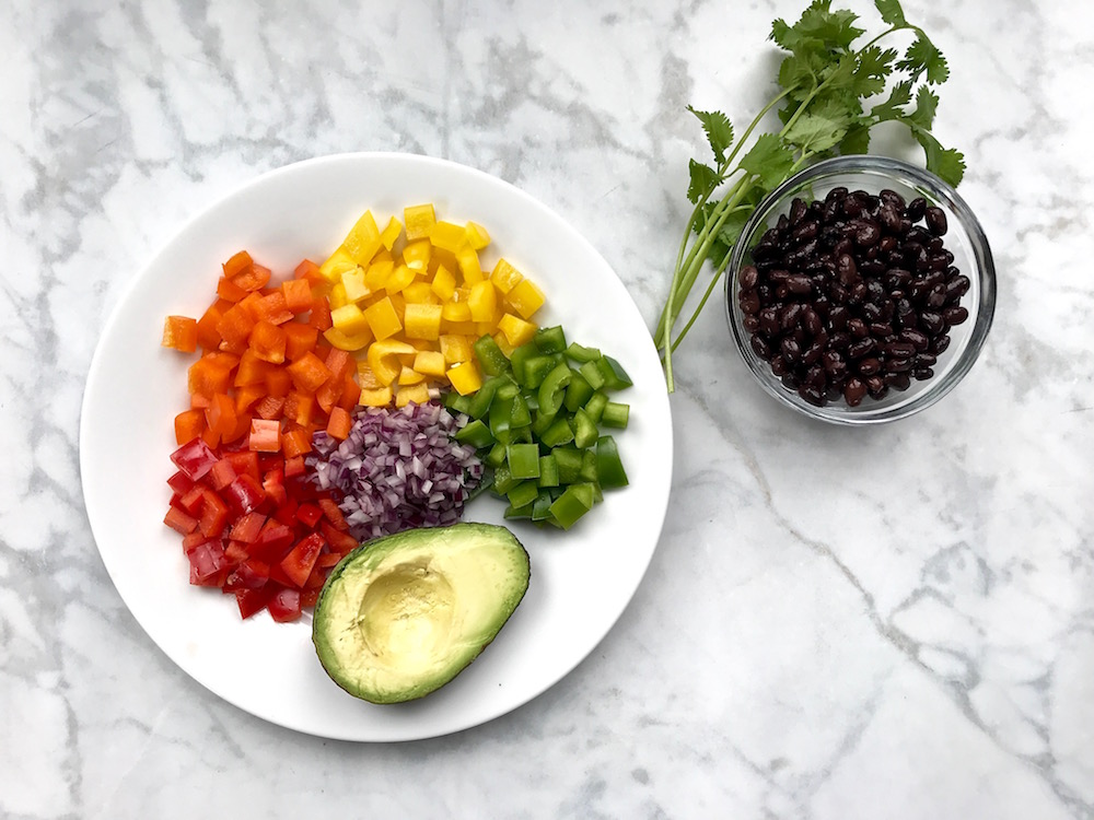 How to make rainbow salsa for a homemade burrito or taco bar | © Jane Sweeney for Cool Mom Eats
