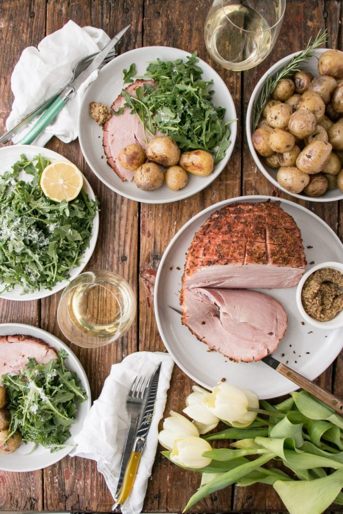 Make ahead brunch recipes for Easter: gorgeous Easter Ham recipe at My Kitchen Love
