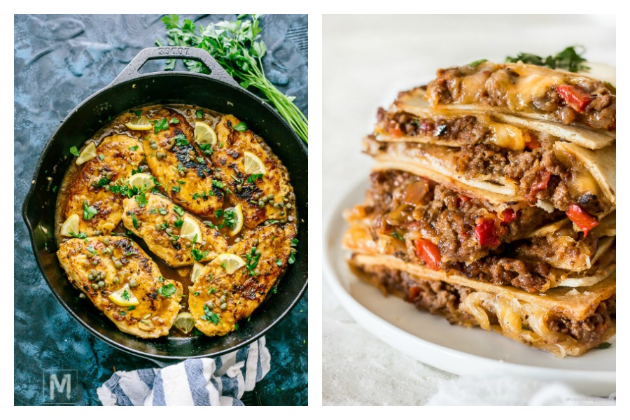 Next week's meal plan: 5 easy recipes for the week ahead, from 35-minute lemony chicken cutlets to sheet pan quesadillas.