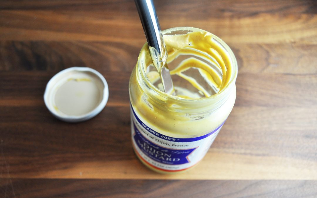 The brilliant secret to using that very last bit of Dijon mustard in the jar.
