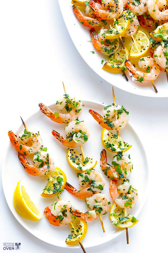 Cool Mom Eats weekly meal plan: Shrimp Scampi Skewers at Gimme Some Oven