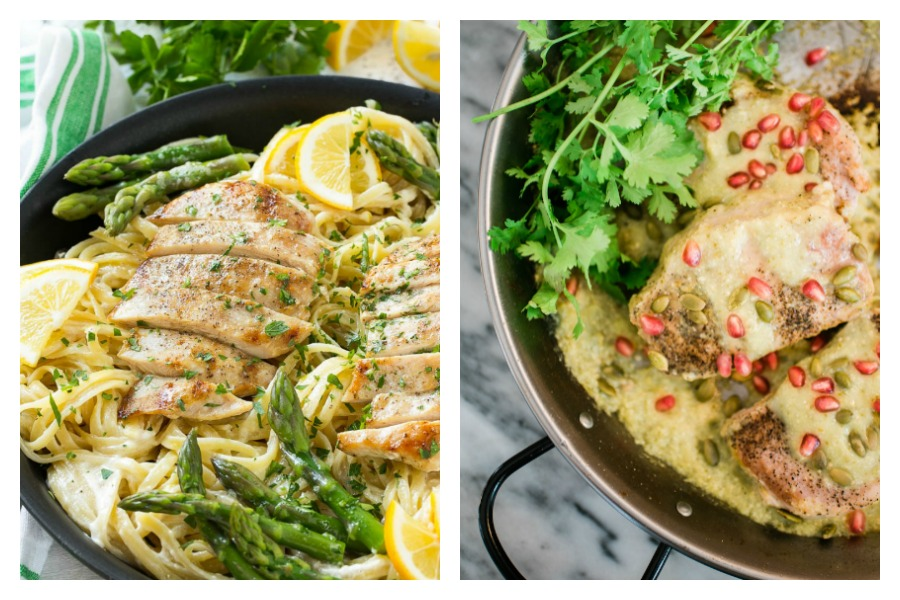 Next week's meal plan: 5 easy recipes for the week ahead, from the perfect spring pasta to 15-minute pork chops.