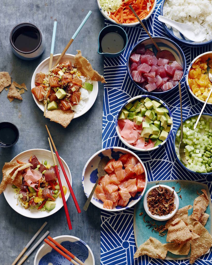 Cool Mom Eats weekly meal plan: DIY Poke Bowls at What's Gaby Cooking