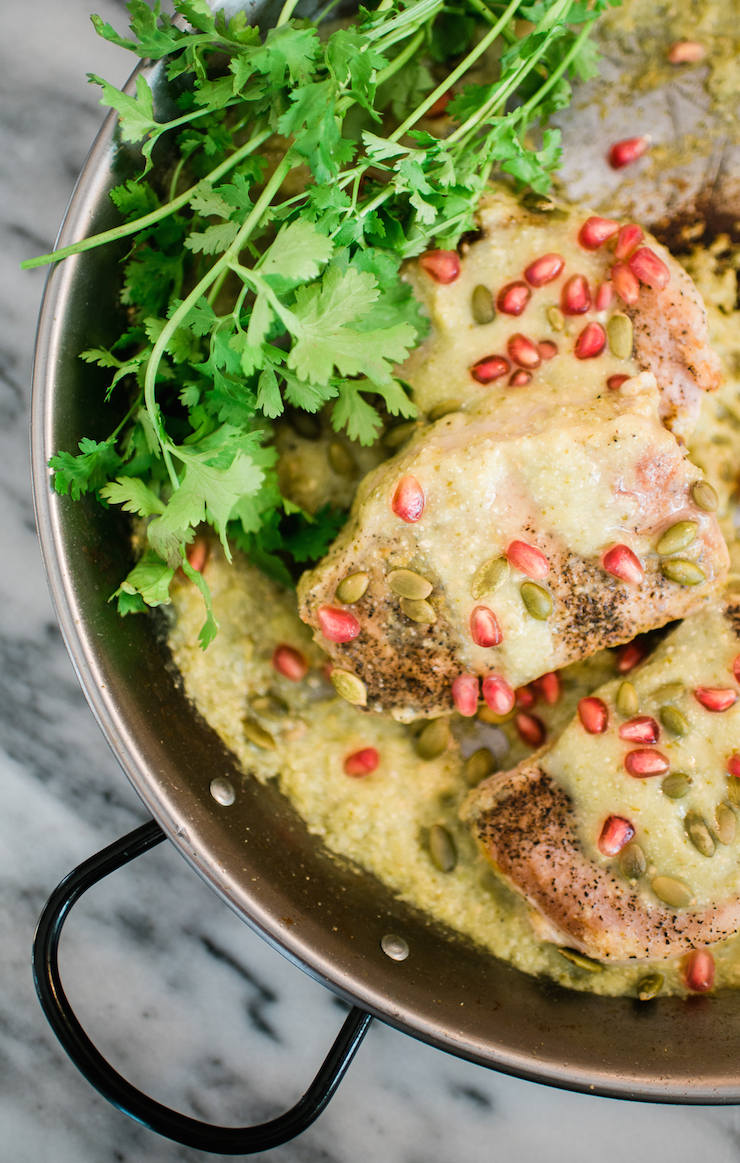 Cool Mom Eats weekly meal plan: Pork Chops in Salsa Verde at Muy Bueno