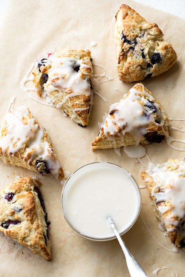 Edible Mother's Day gifts: Blueberry Scones at The Cozy Apron