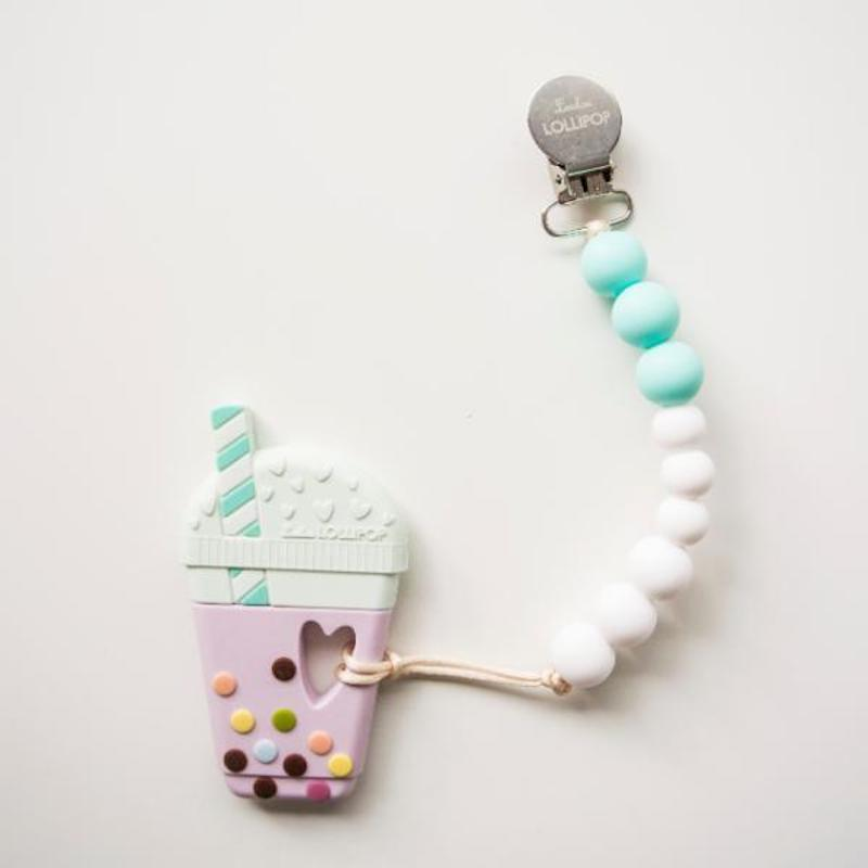 Foodie baby shower gifts: Bubble Tea teether at LouLou Lollipop