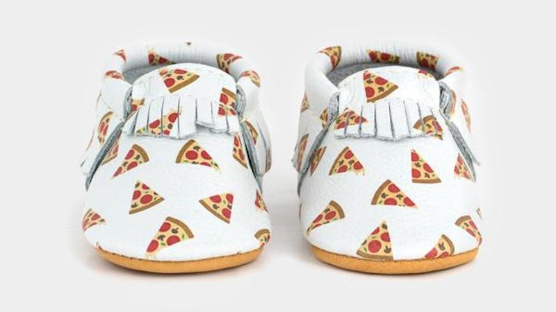 Foodie baby shower gifts: Home Slice shoes at Freshly Picked
