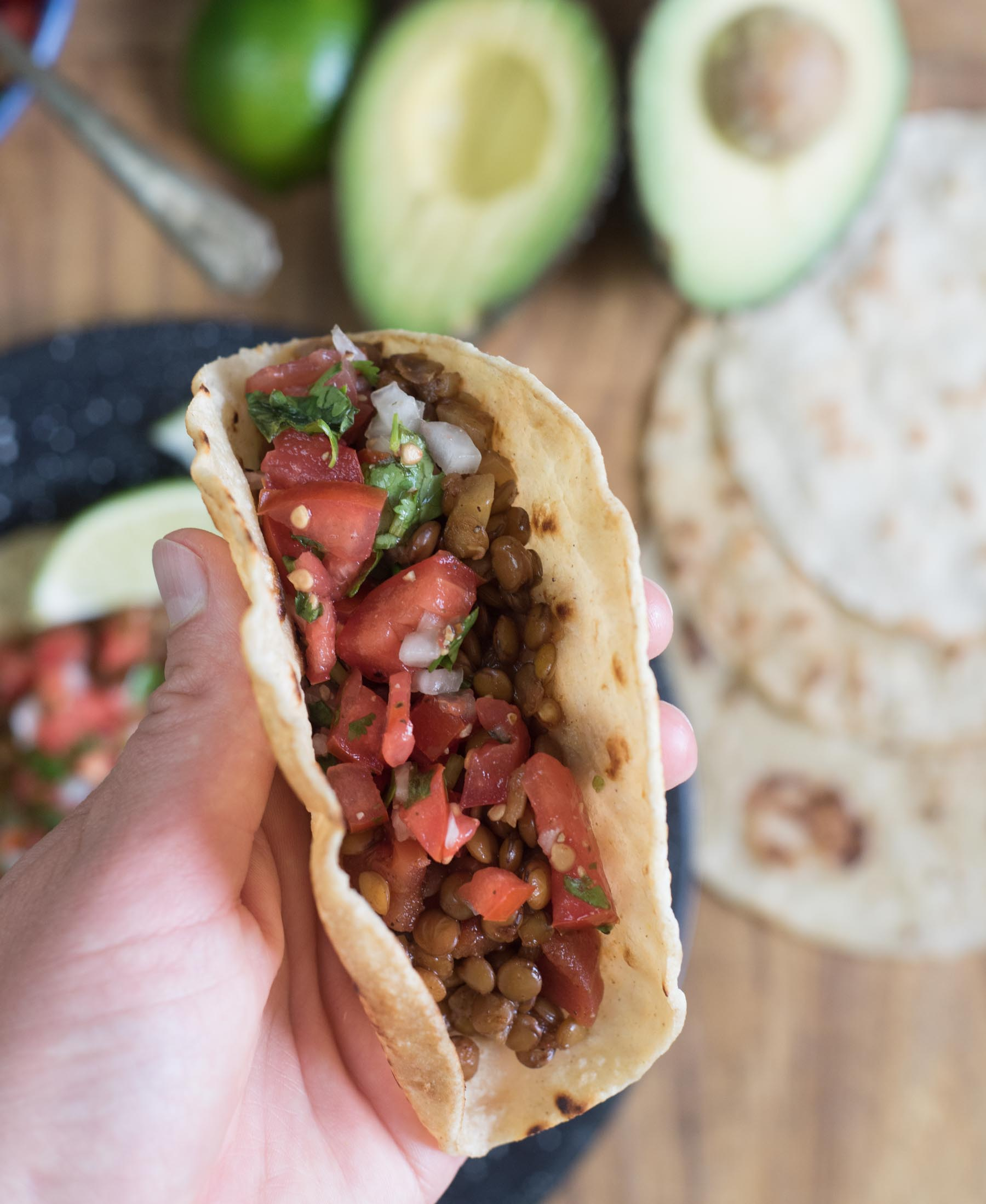 Budget-friendly dinners: Lentil Veggie Tacos | Bless this Mess