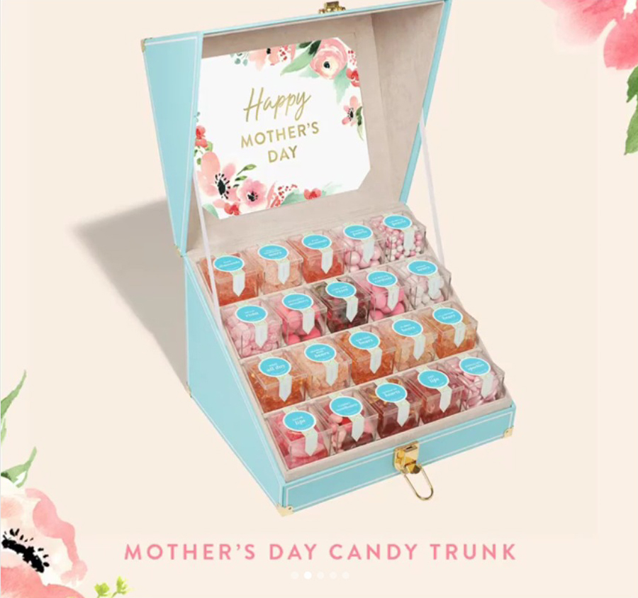 Mother's Day gifts for Grandma: Custom Mother's Day candy trunk from Sugarfina, with 20 delicious candies of your choice
