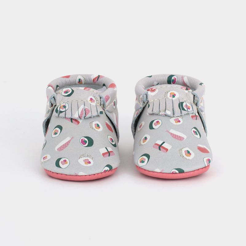 Sushi roll baby mocs by Freshly Picked | foodie baby gifts