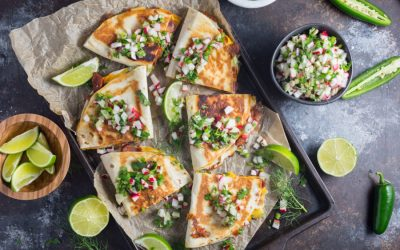 Next week's meal plan: 5 easy recipes for the week ahead, from quesadillas with a springy salsa to a 15-minute family fave.