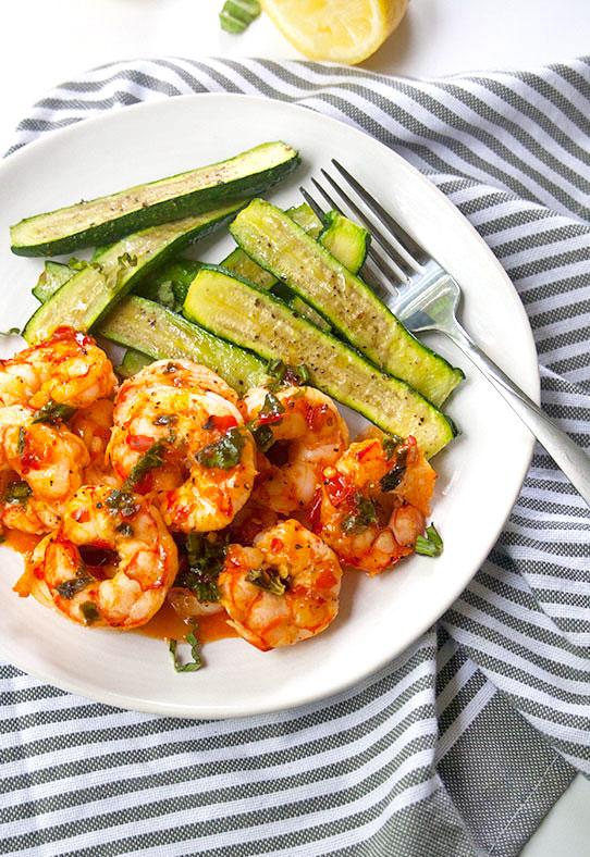Cool Mom Eats weekly meal plan: Sheet Pan Lemon Harissa Shrimp at Bright Roots Kitchen