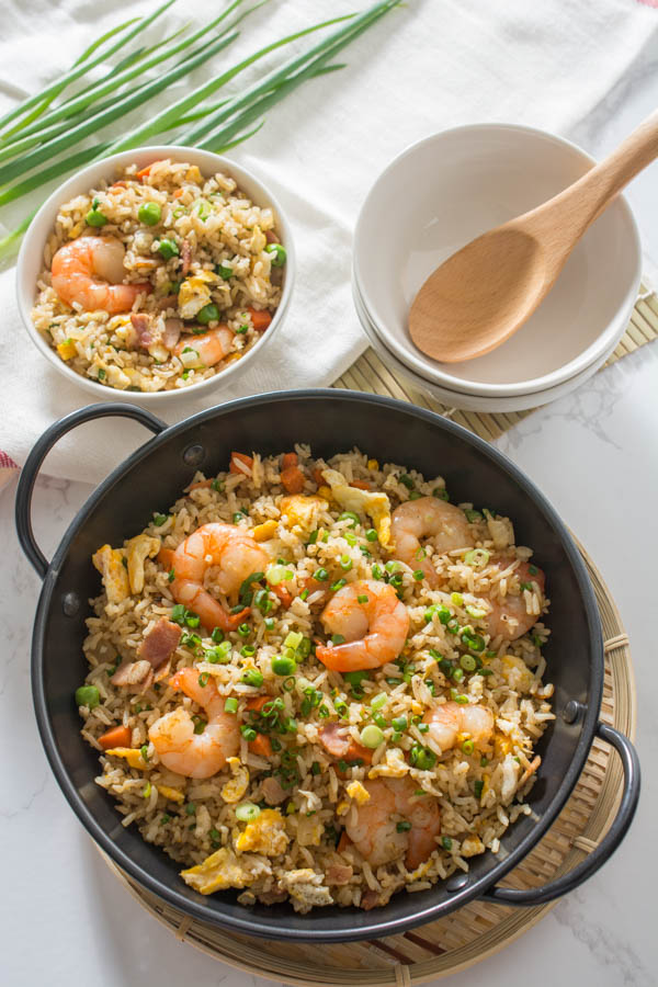 Cool Mom Eats weekly meal plan: Bacon Fried Rice at Wok & Skillet