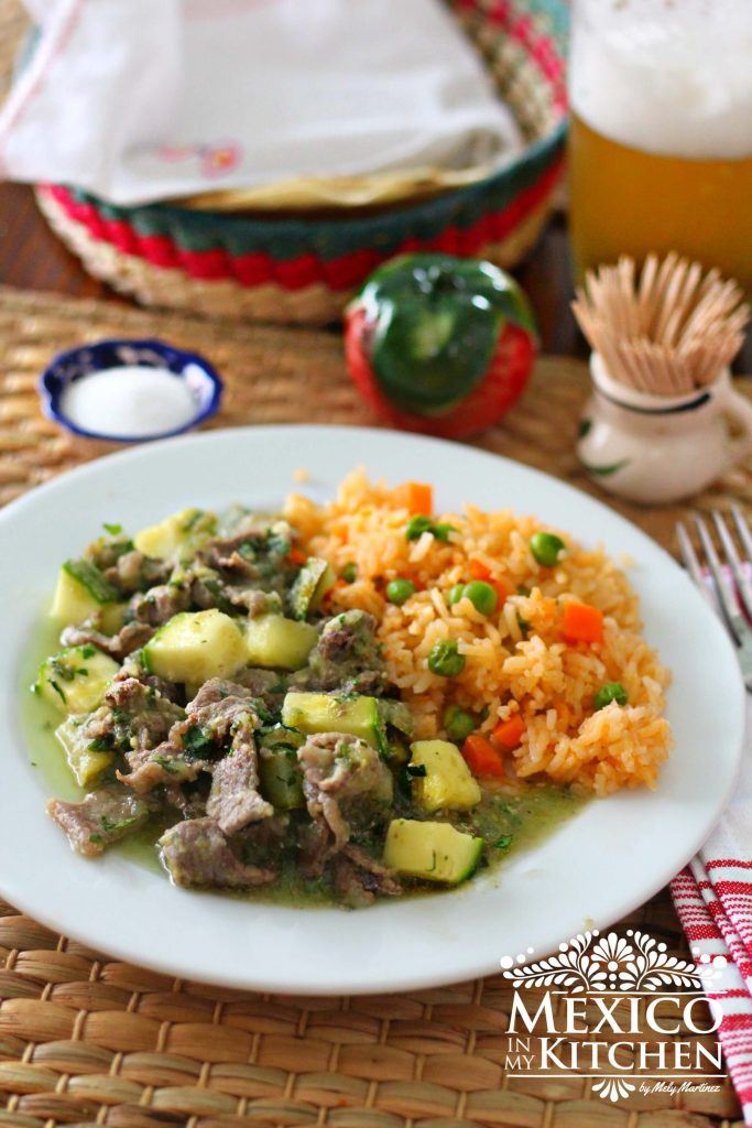 Cool Mom Eats weekly meal plan: Steak in Salsa Verde at Mexico in My Kitchen