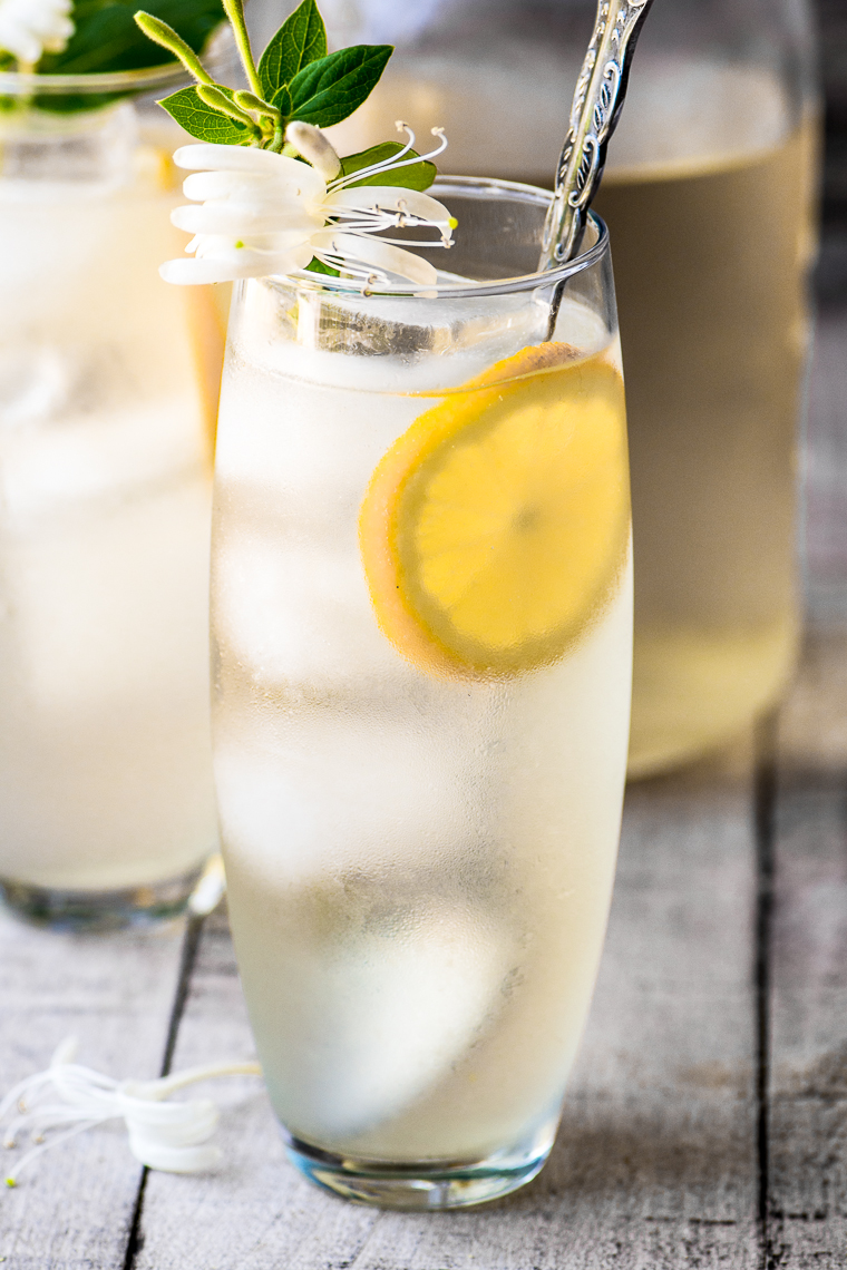 Botanical cocktail recipes: Honeysuckle Vodka Lemonade | The View from Great Island