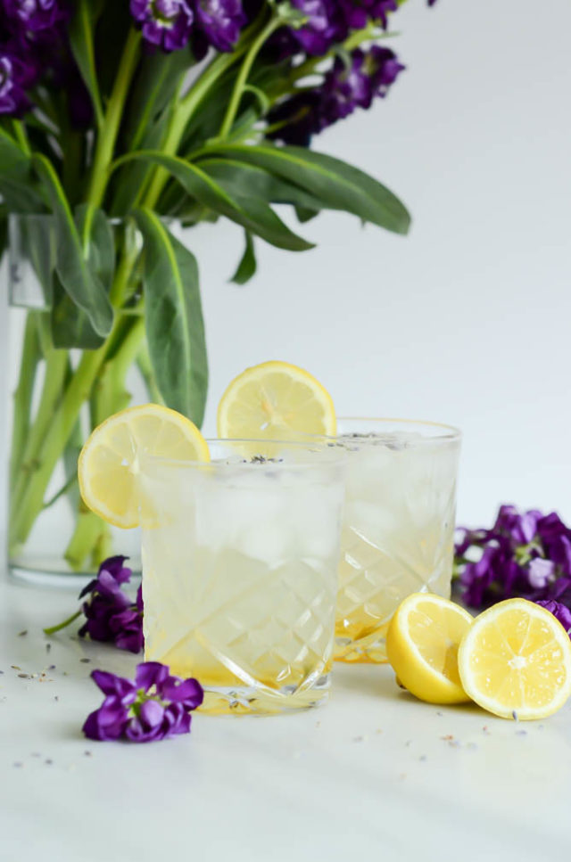 Botanical cocktail recipes: Lavender Collins at Cali Girl Cooking