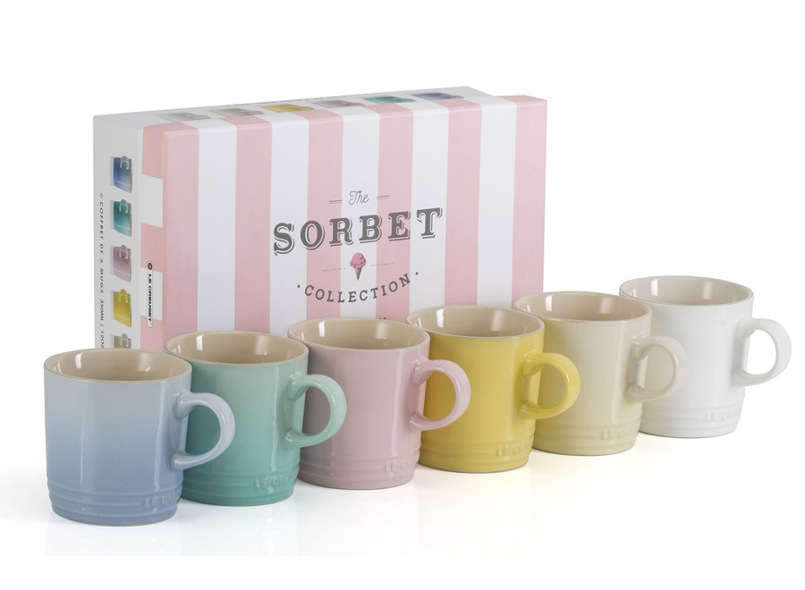 Le Creuset's affordable Sorbet Collection: Mugs