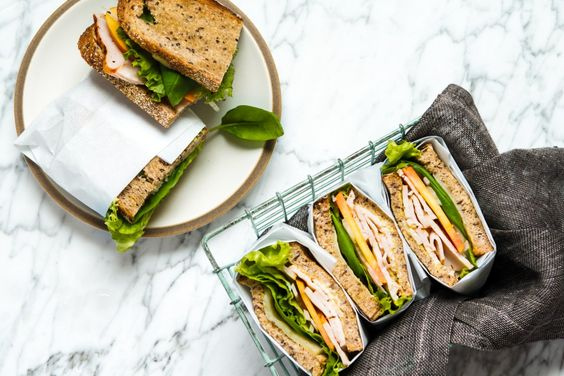 Mother's Day picnic recipes: Turkey, Peach & Basil Sandwiches | Zestful Kitchen