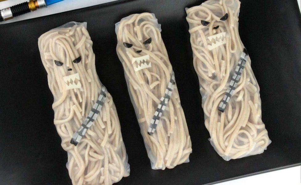 Chewbacca Noodle rolls by Jenn Fujikawa for Solo: A Star Wars Story