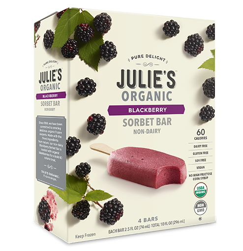 The best low-sugar popsicle brands: Julie's Organic non-dairy sorbet bars